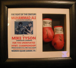 Mike-Tyson-Vs-Muhammad-Ali-Mini-Signed-Boxing-Gloves-Framed-Fantasy-Match