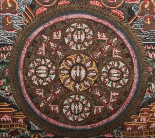 Tibet 20. Jh Thangka - A Tibetan Mandala Tibétain Pittura Tibetana