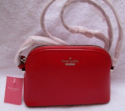 Kate Spade New York Red Leather Peggy Patterson Drive Cross Body Bag. BNWT
