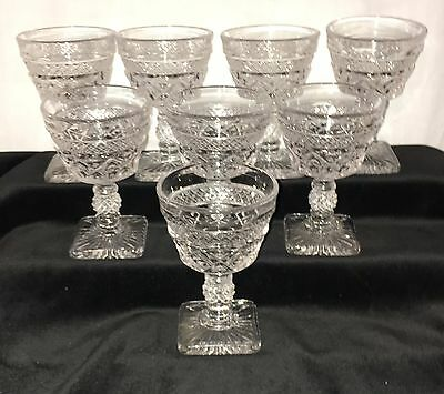 "8 Imperial CAPE COD CRYSTAL*4 5/8"" 3.5oz COCKTAIL GOBLETS w/FANCY BALL STEM"