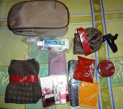 Travel Survival Overnight Kit w/ Toothbrush Toothpaste Socks, Lip Balm & More
