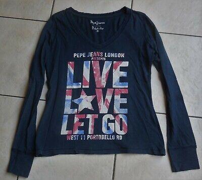 PEPE JEANS Tshirt marine Live Love M