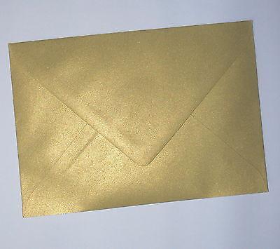 50 Briefumschläge Gold Kuvert DIN C6 Briefhüllen 114x162 mm Briefumschlag o.F.