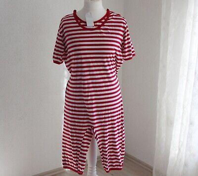 Kostüm Retro Badeanzug rot geringelt Gr. M und XL Männer Frauen - Retro Kostüm Frauen