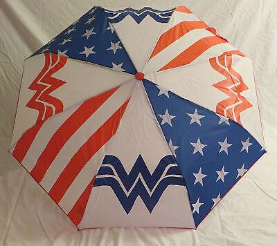 DC Wonder Woman Compact Umbrella Logo Stars & (Wonder Woman Umbrella)