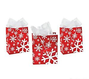 Wholesale-36-SNOWFLAKE-Red-Glossy-Gift-Bags-Christmas ...