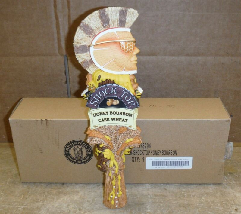 """Shock Top Honey Bourbon Cask Wheat Draft 12"""" Beer Tap Handle Double Sided nd02"""