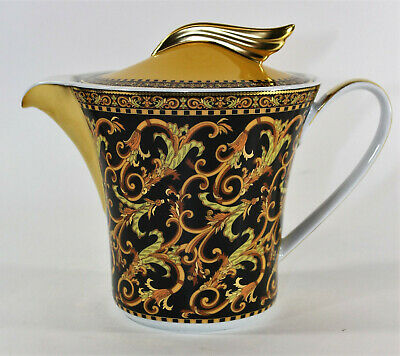 Versace Barocco by Rosenthal Paul Wunderlich Ikarus Form Gold Wing Teapot w/ Lid