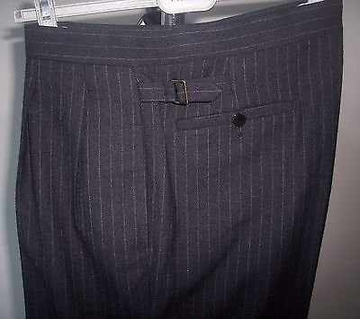New LANVIN Striped Pants 50 Italy 34