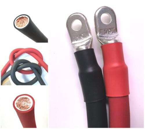 1/0 AWG 0 Gauge Copper Battery Cable Power Wire Car, Marine, Inverter, RV, Solar