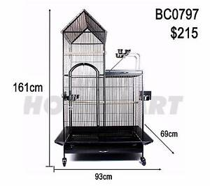 LARGE INDOOR BIRD BUDGIE PARROT WIRE CAGE AVIARY PORTABLE 161CM Richlands Brisbane South West Preview