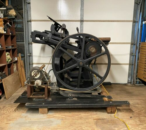 Working Chandler & Price Platen Press. Phase Converter. Fully Operational. 1900s