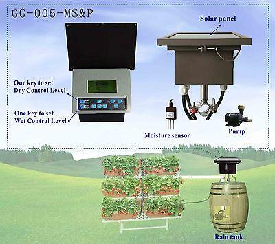 Home Garden Sprikler Irrigation Controller Timer Auto Solar Powered  Rain Tank