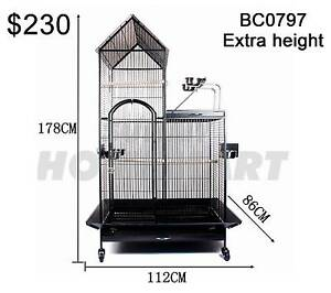 Large 178CM Indoor Bird Parrot Budgie Cage Aviary Perch On Wheels Derrimut Brimbank Area Preview