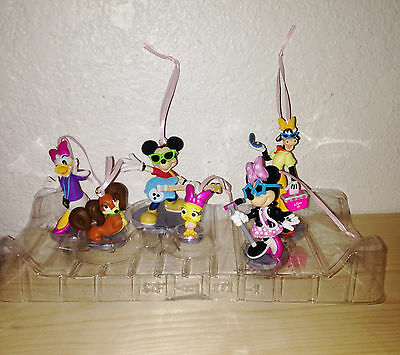 Disney Store Minnie Mouse Rock Star 6pc Ornaments Toy Figures Set Mickey Daisy - Rockstar Cake Toppers
