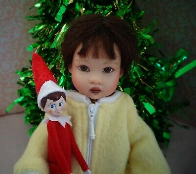 Mini Elf on the Shelf for Riley Kish or Little Darling doll Christmas diorama