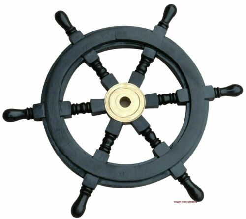 Maritime Wooden Ship Wheel Pirate Captain Antique Boat Steering Wall Decorative