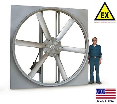 Panel Axial Exhaust Fan - Explosion Proof - 42 - 230460v - 2 Hp - 19192 Cfm