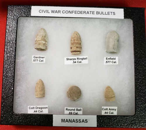 Nice Starter Set Of Excavated Confederate Civil War Bullets - Identified