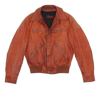 Vintage WILSONS LEATHER Jacket S Small Mens Vtg 1970s Bomber Jacket Motorcycle