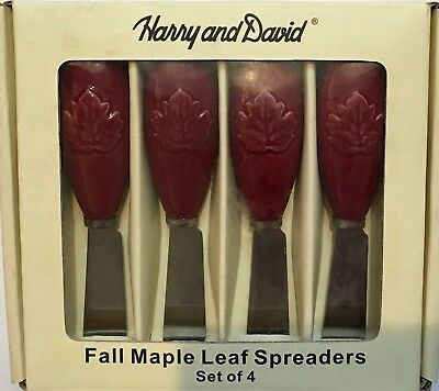 Harry and David Fall Maple Leaf Spreaders Set of 4