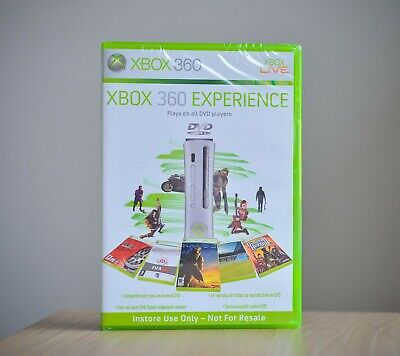 Microsoft Xbox 360 Experience DVD New Unopened Demo Videogames only collectors