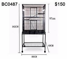 Large Stand-Alone Parrot Aviary Budgie Canary Bird Rat Cage 162CM Richlands Brisbane South West Preview