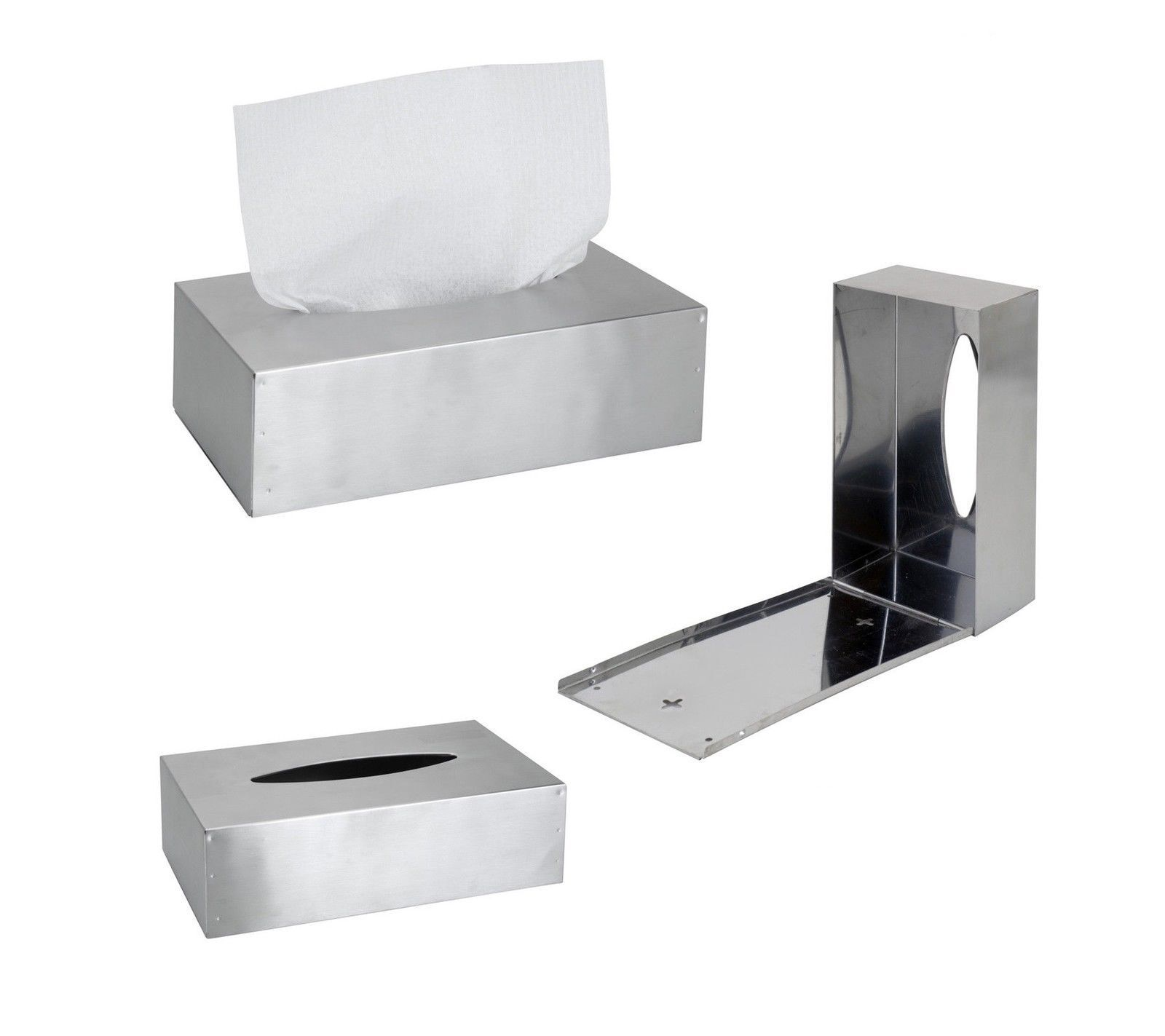 Kosmetiktücherbox Edelstahl Taschentuchspender Taschentuchbox Edelstahlbox