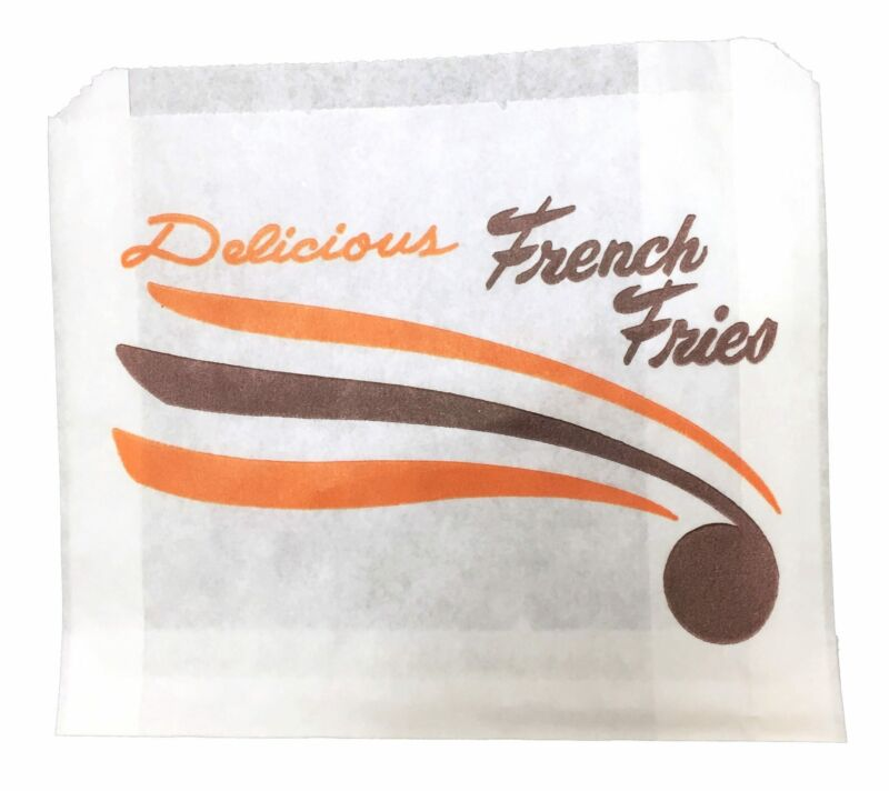 *Closeout Price - Limited Quantity* 10,000 5x1x4 White French Fry Paper Bags