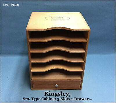 Kingsley Machine Sm.type Cabinet 5-slots 1-drawer Hot Foil Stamping Machine