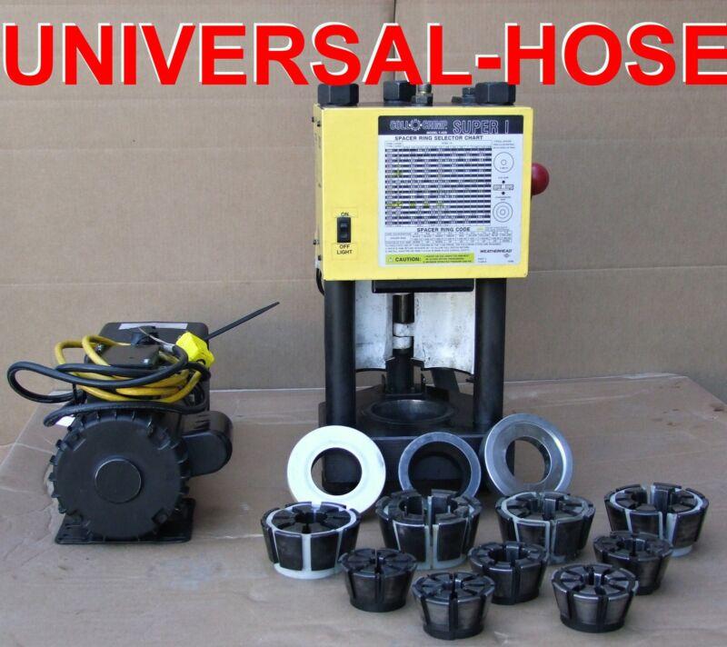 HYDRAULIC HOSE CRIMPER MACHINE W/  PUMP WEATHERHEAD T-420