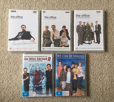 COMEDY DVDs - THE OFFICE, AN IDIOT ABROAD & WE CAN BE HEROES