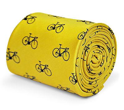 Frederick thomas Designer Uomo Cravatta - Luminoso Giallo Limone - Bicicletta