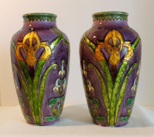 RARE & BEAUTIFUL PAIR OF SEVRES OPTAT MILET VASES 19TH CENTURY