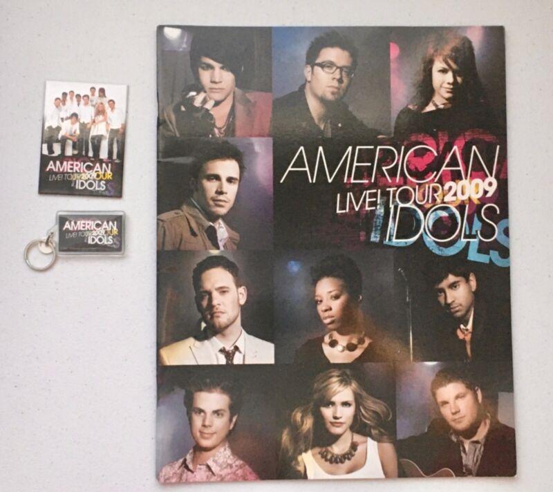 American Idols LIVE! Tour 2009 Program + Magnet, Keychain & Preprints. Preowned.