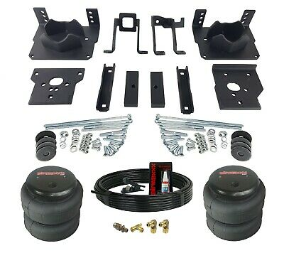 Air Helper Spring Kit Bolts On 11-16 Ford F250 F350 2wd No Drill Over Load Level Ford F-250 Helper Spring