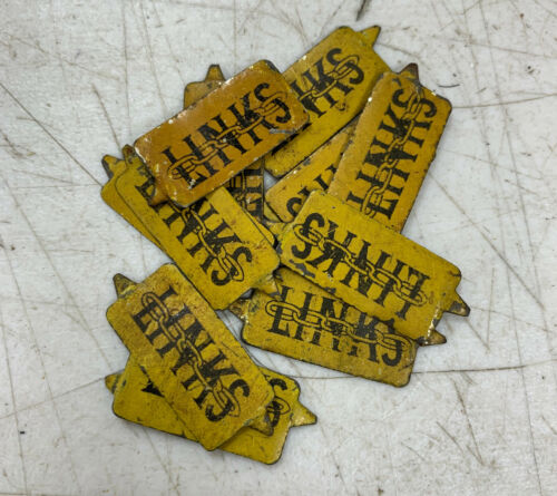 Vintage Tin Tobacco Tag - LINKS 1 Piece