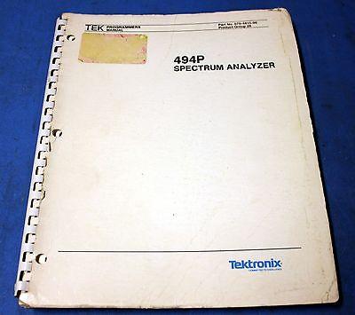 Tektronix 494p Spectrum Analyzer Programmers Manual