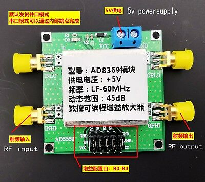Ad8369 600m 45db Vga Wideband Gain Differential Amplifier With Barron 50