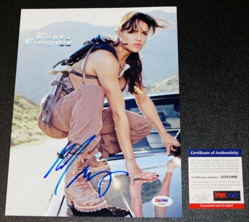 MICHELLE RODRIGUEZ SIGNED AUTOGRAPHED Fast And Furious 8.5X11 Picture PSA JSA