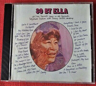 CD ELLA FITZGERALD - 30 BY ELLA - 1968 (Rara Complilation)
