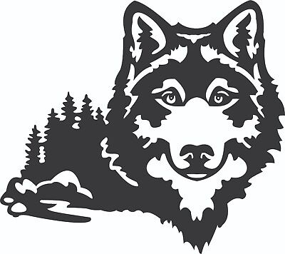 Dxf File For Plasma Router Laser - Cdr Ai Svg Files - Ready To Cut - Wolf