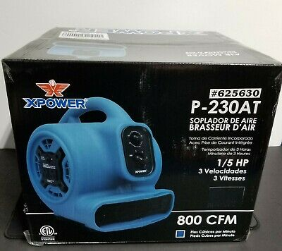 XPOWER P-230AT 1/5 HP Mini Air Mover Portable Carpet Dryer Floor Fan Blower -