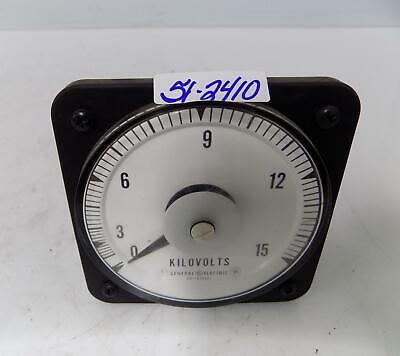 General Electric 0-15 Ac Kilovolts Panel Meter 50-103021pzwz2