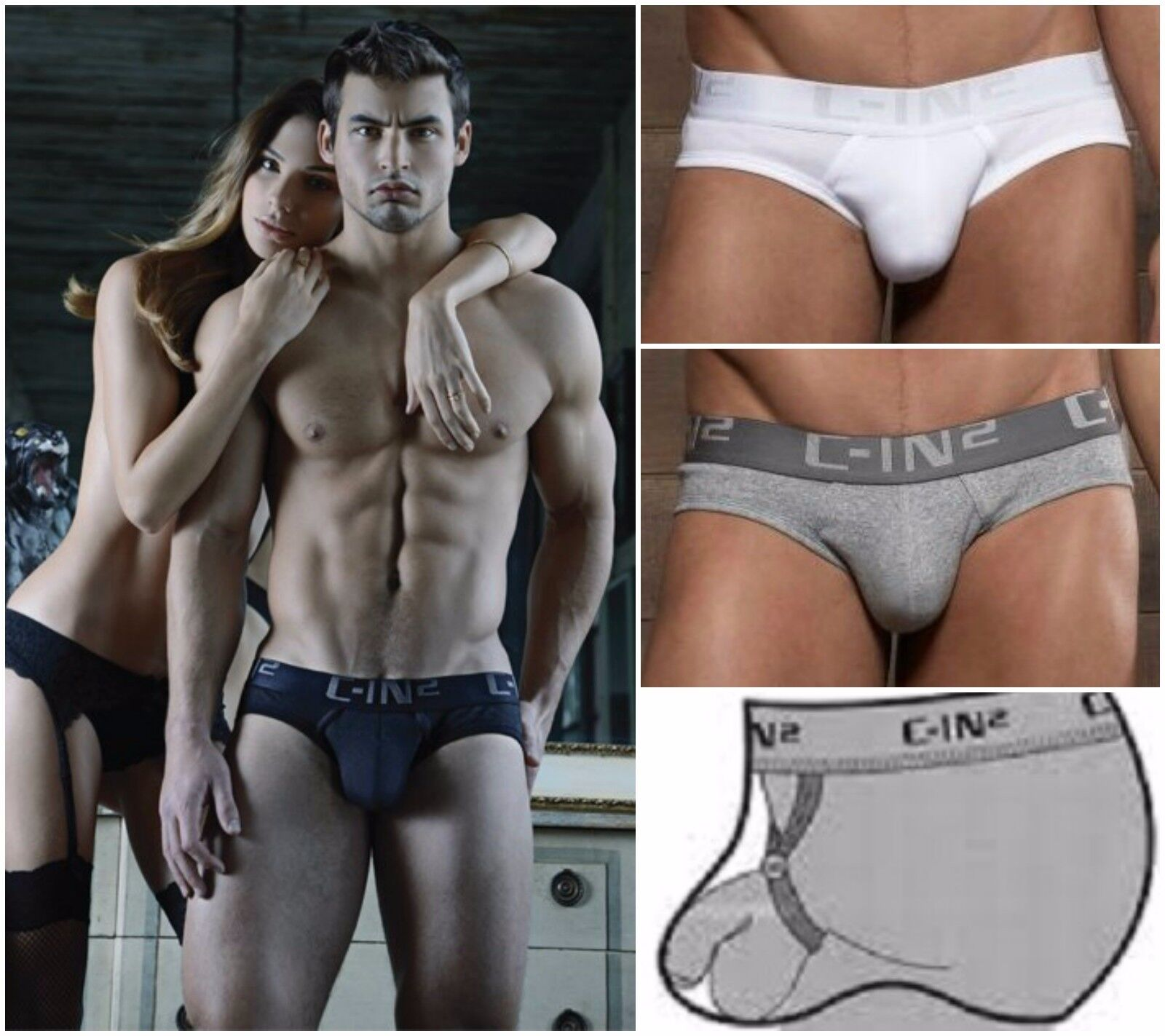 C-IN2 Brief Mens Underwear Core Gay/Guy FAST SHIPPING Size S