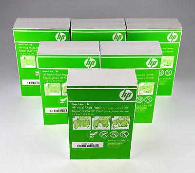 "HP Vivid Photo Paper 4"" x 6"" Matte white CG465A 1080 Sheets NEW 6 Pack"