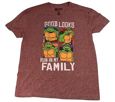 Teenage Mutant Ninja Turtles Mens Good Run In My Family Shirt New M, XL, 2XL](Ninja Turtle Family)