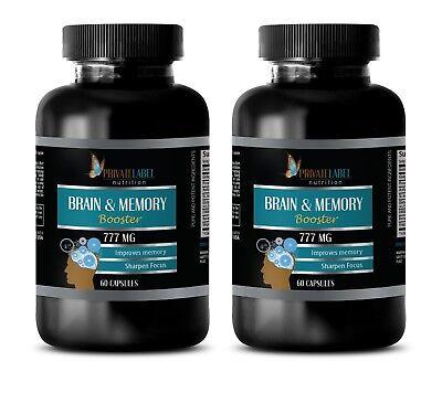 Memory vitamins - BRAIN & MEMORY BOOSTER FORMULA - natural mood enhancer - 2 Bot ()