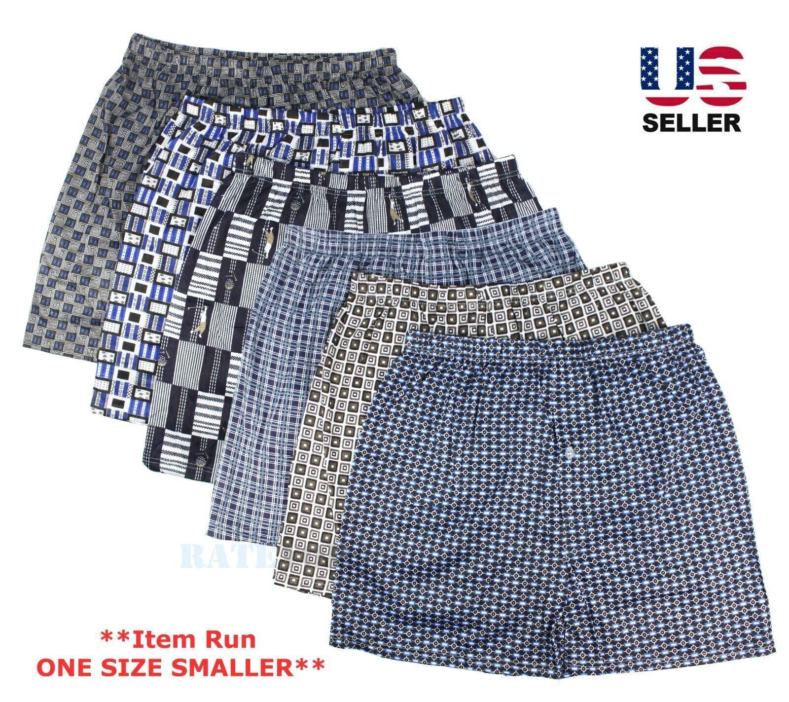 Lot 3-Pack Mens Cotton Boxer Briefs Underwear Shorts Trunks