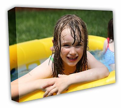 CANVAS PRINT YOUR PHOTO ON A3 personalised 16X12IN 18MM DEEP PINE FRAME